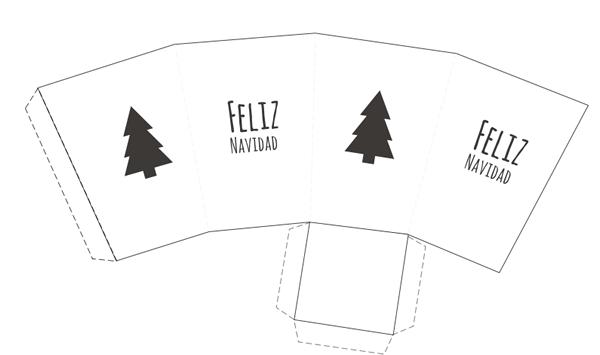 caja imprimible para regalos de navidad