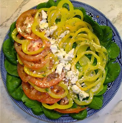 Yellow Pepper and Red Tomato Salad