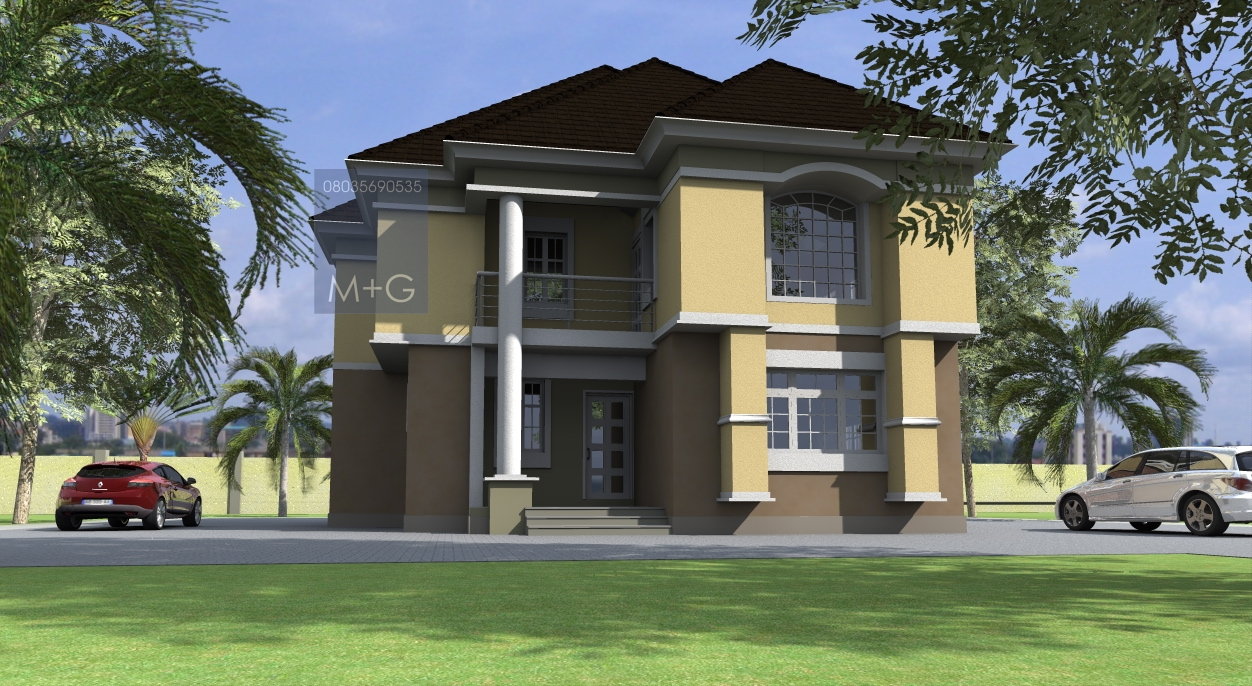 Contemporary nigerian residential architecture 4 bedroom for Luxury duplex plans