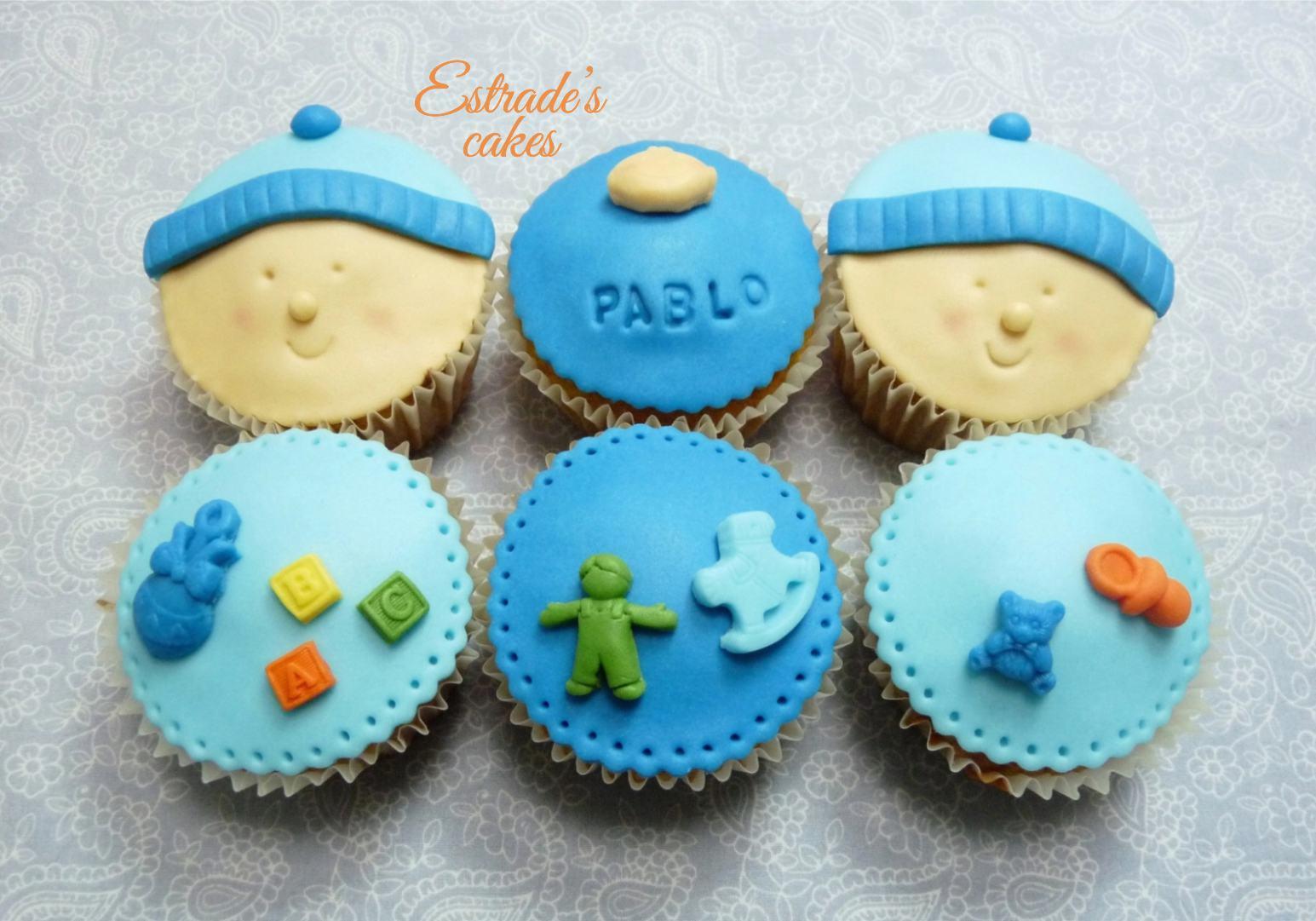 cupcakes para bebé con fondant 2 - 1