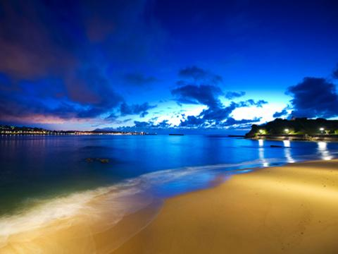Wallpaper Beach Scene
