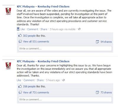 Pekerja KFC Bergaduh Dengan Pelanggan