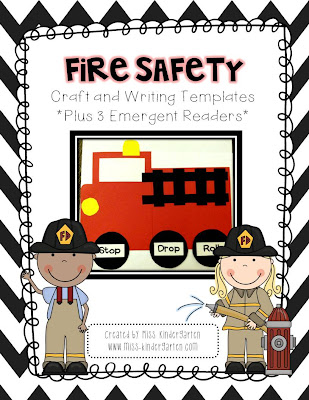 Fire Safety Worksheets Preschool http://www.miss-kindergarten.com/2012/09/fire-safety-week.html