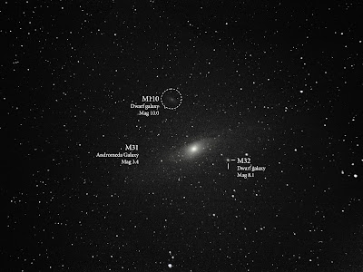 Messier 31 andromeda galaxy label