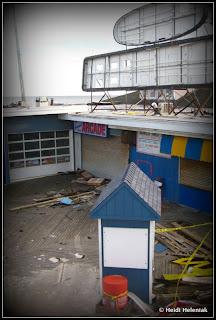 Berkeley Sweet Shop after Hurricane Sandy. View from Beachcomber Bar. January 2013. Seaside Height, NJ Hurricane Sandy