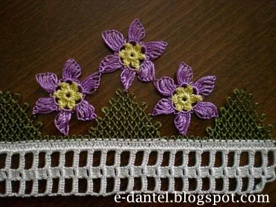 Çiçek Motifli İğne Oyası Modelleri