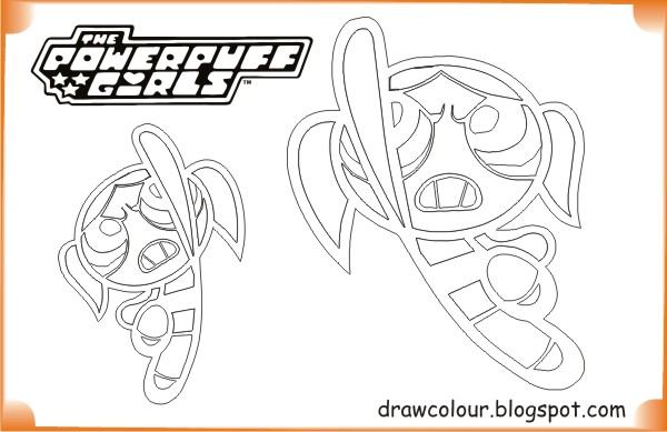 printable-the_powerpuff_girls-bubbles_in_action-coloring-pages
