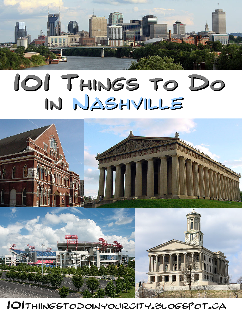 101 Things To Do 101 Things To Do In Nashville