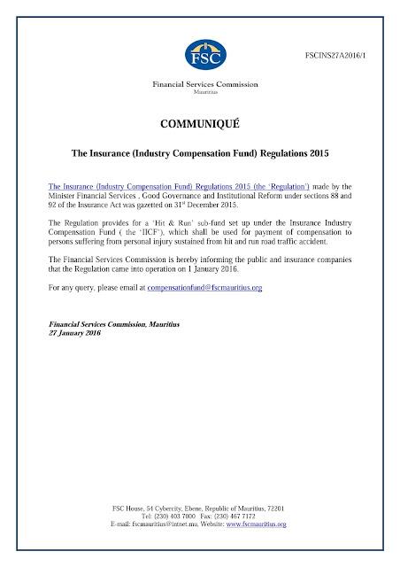 Amar fsc mauritius issues circular letter on insurance industry circular letter insurance industry compensation fund regulations 2015 read more altavistaventures Choice Image