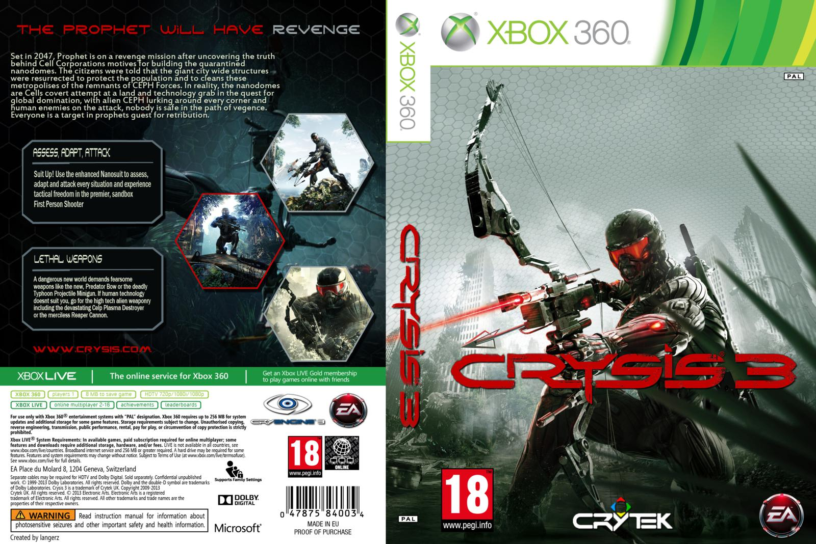 Capa Crysis 3 Xbox 360