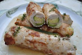 Rollatine di maiale con zucchine/Rulade de porc cu dovlecel