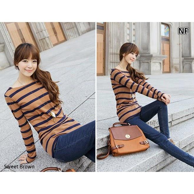 Baju Korea Warna Coklat