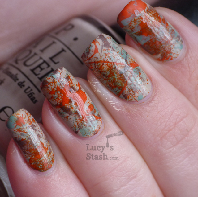 Lucy's Stash - Autumn splatter mani
