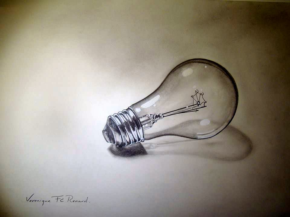 light bulb drawing realistic. philips light bulb pencil drawing realistic a