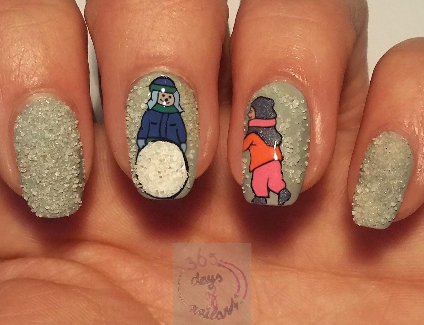 365 Days Of Nail Art Day 325 Nail Art Winter Fun