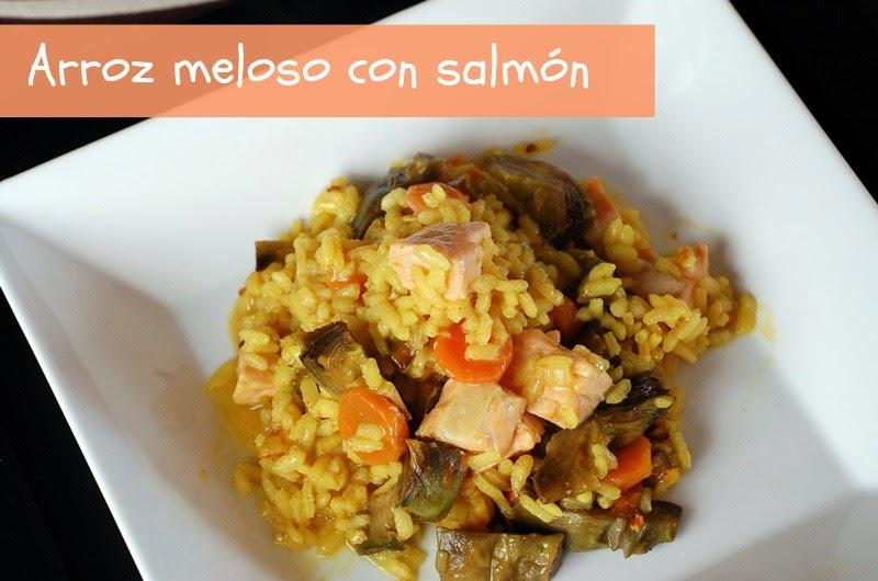 arroz meloso con salmón, healthy food, littledreamsbyr
