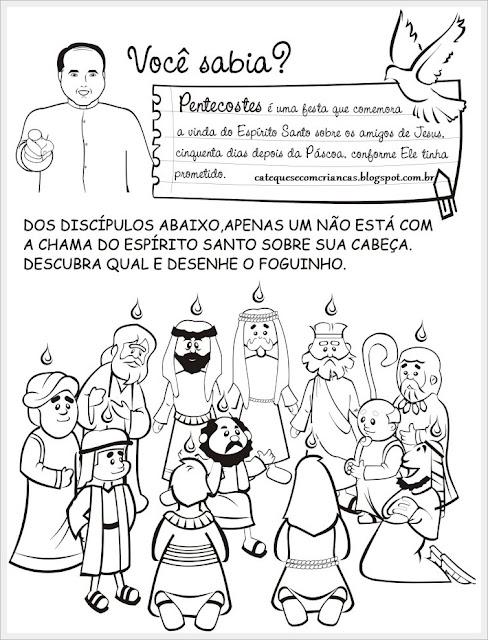 catequese com crianças pentecostes