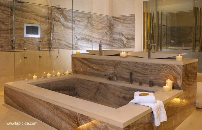 Baño Rustico Contemporaneo:Arquitectura de Casas: Diseños de baños lujosos