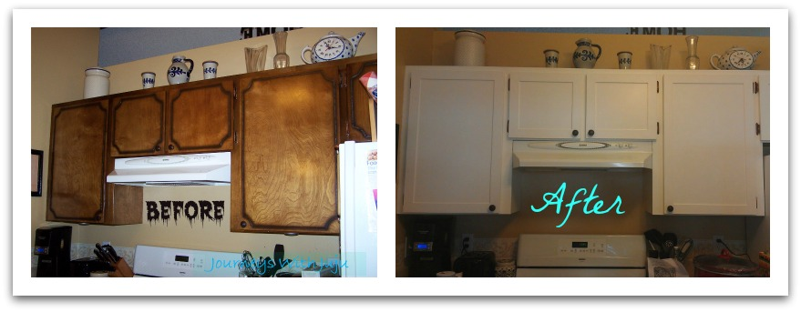 Kitchen Cabinet Makeover : Journeys with Juju: Kitchen Cabinet Makeover - Upper Cabinets Done!