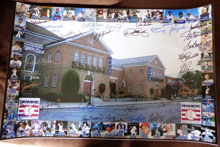 Baseball Hall of Fame Legends Signed Photo