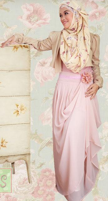 Hijab Fashion Style Dengan Motif Bunga Tutorial Hijab