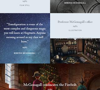 Parte del profilo della professoressa McGranitt in Pottermore, fino al 24 novembre 2015