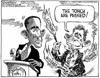 obama bush cartoon