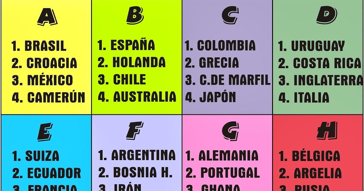 David Poma Huanca: Fixture oficial del mundial Brasil 2014 View Image