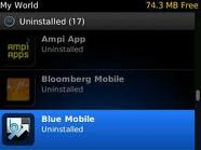 how to wipe clean uninstall applications on the Blackberry app.world