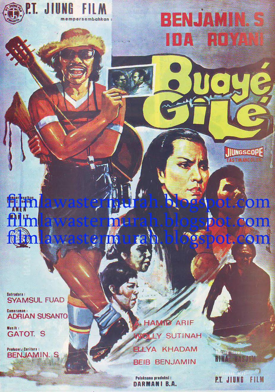 Benyamin S - Buaye Gile (1975) - Film lawas termurah