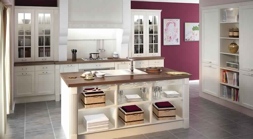 buffet de cuisine bois blanc. Black Bedroom Furniture Sets. Home Design Ideas