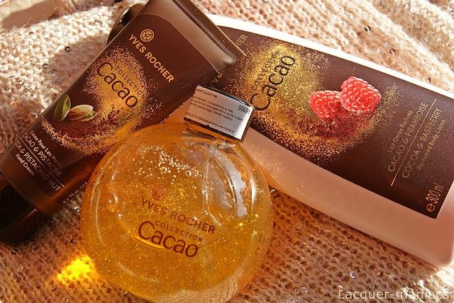 Świąteczne nowości od Yves Rocher - czekoladowo-pomarańczowy żel pod prysznic z drobinkami