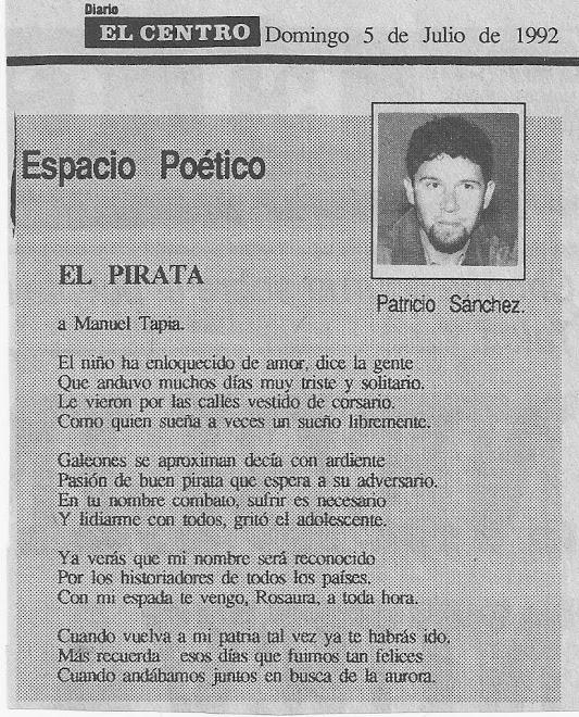 EL PIRATA - PATRICIO SANCHEZ-ROJAS - CHILE - 1992.-