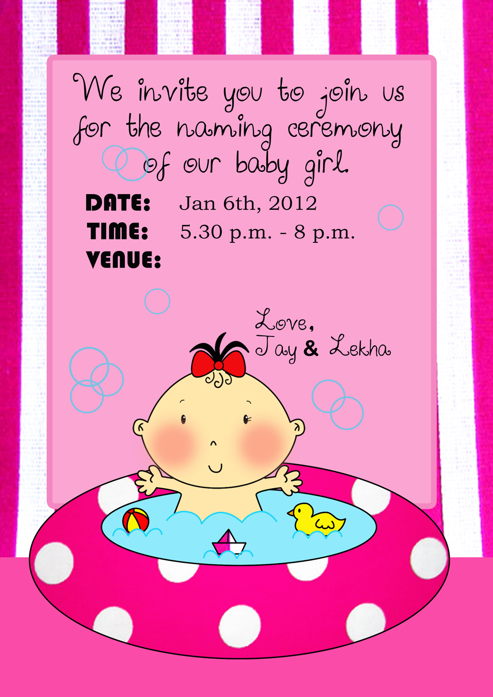 Another Naming Ceremony Invite :)