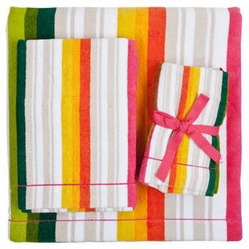 toalla a rallas en alegres colores
