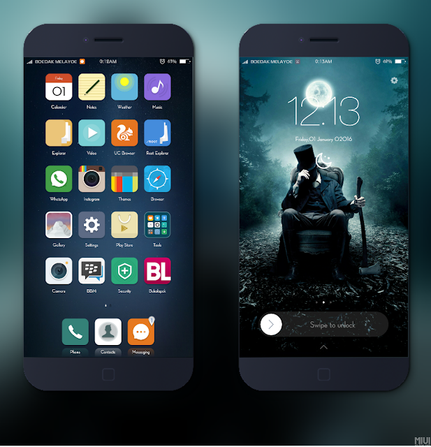 Theme Nice One For Xiaomi Smartphone Miui OS