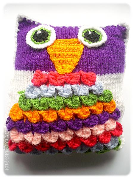 Cojin de buho - Cojin de crochet ...