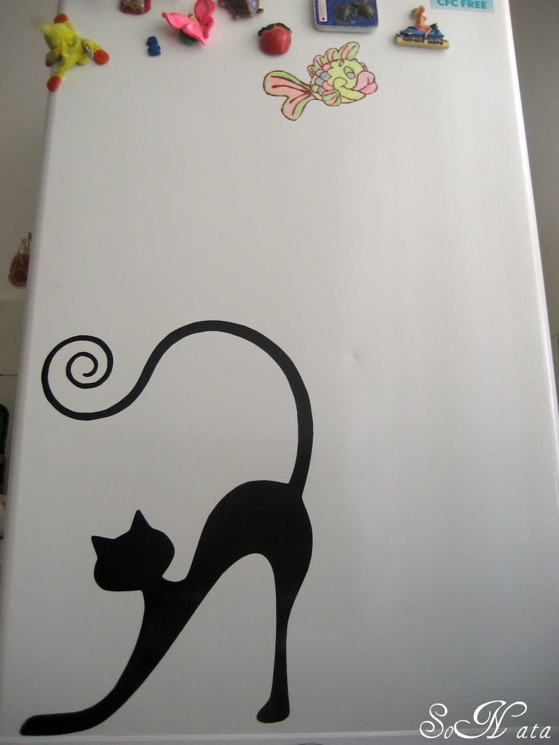 Трафареты на холодильник своими руками 69
