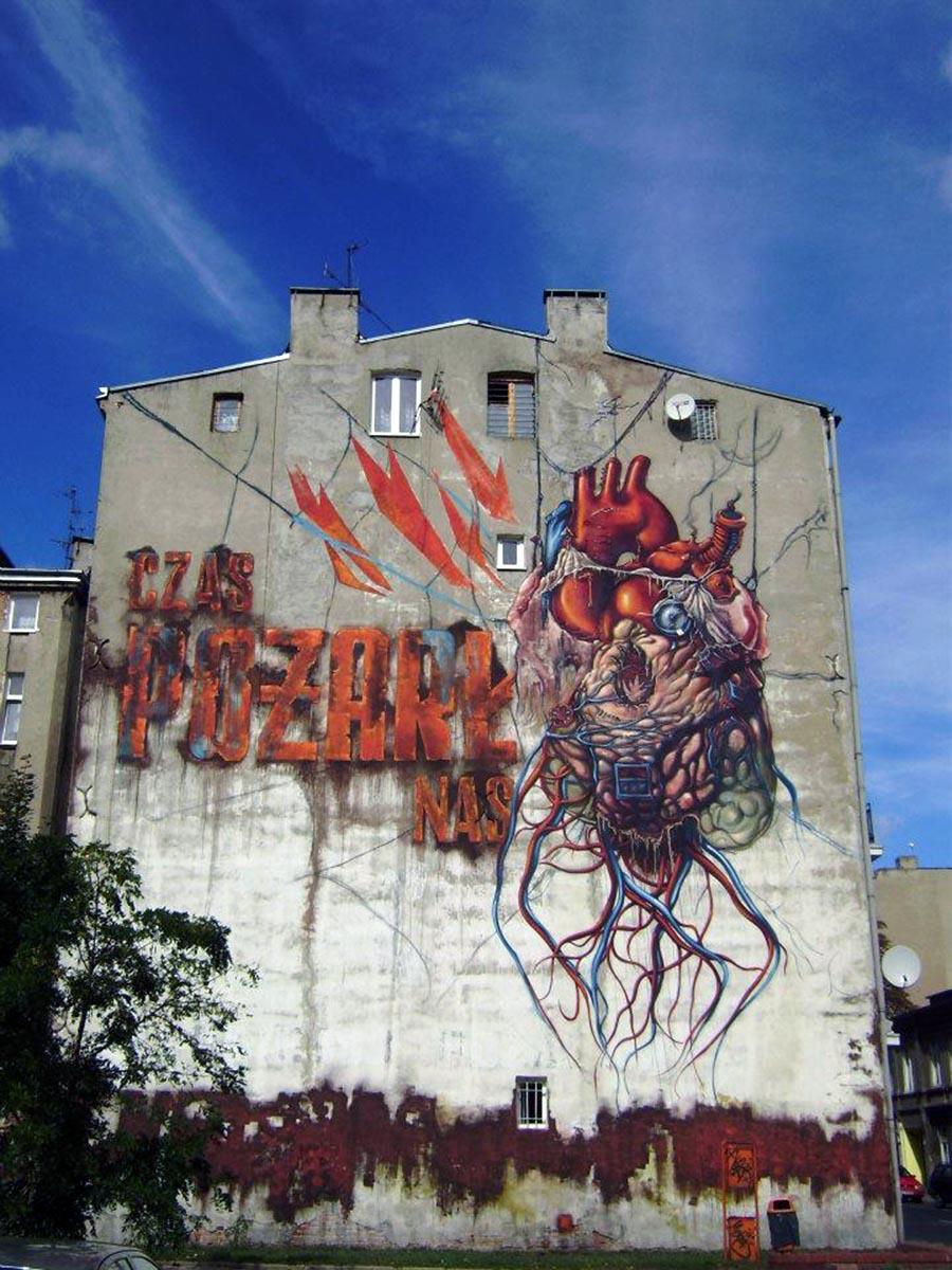 Lump New Mural In Lodz Poland Streetartnews Streetartnews