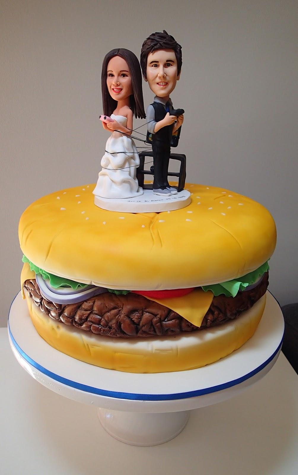 Burger wedding(!!) cake | Monkey business