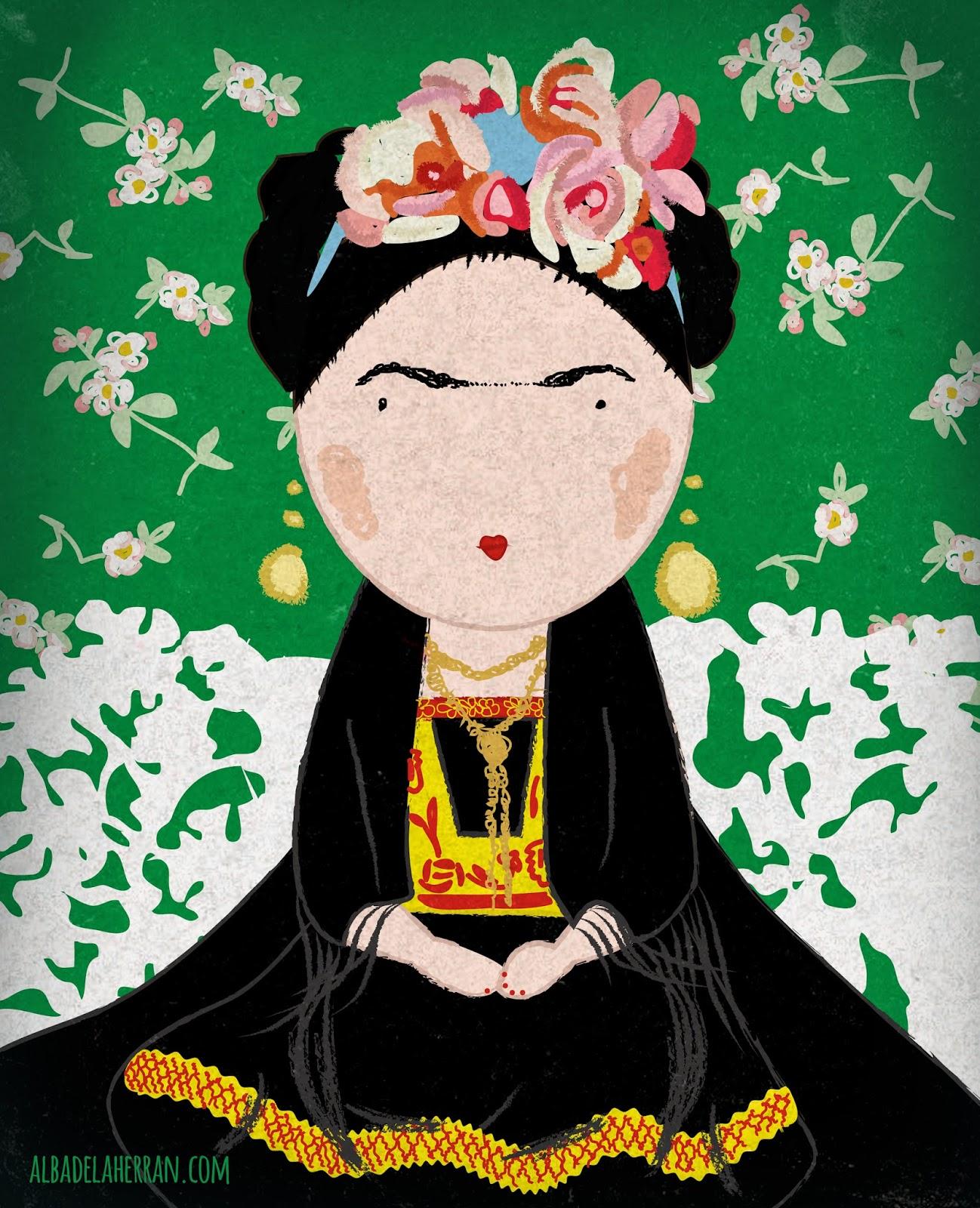 Ilustración Frida Kahlo Vogue