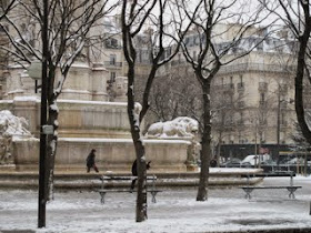 Outside St Sulpice after snow