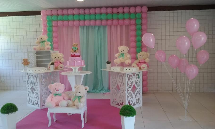 Ursos rosa com verde