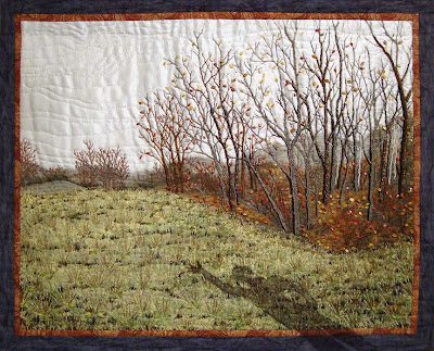 Thom Atkins, beaded quilt, My Father's Shadow