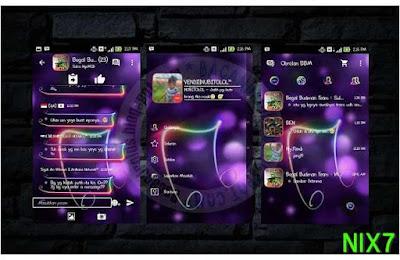 BBM Mod Tema Neon Music 2.9.0.45