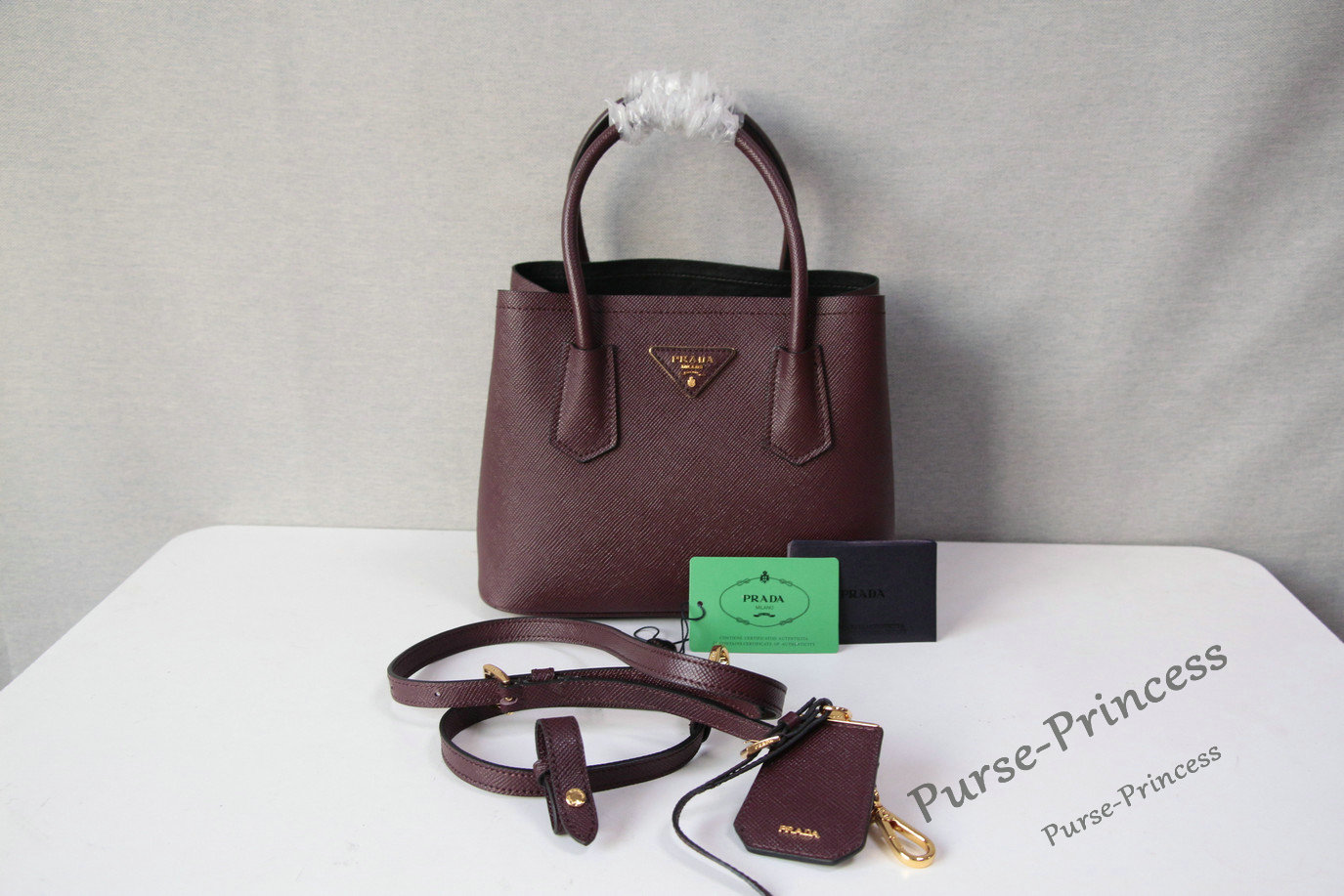 prada leather bag with removable shoulder strap