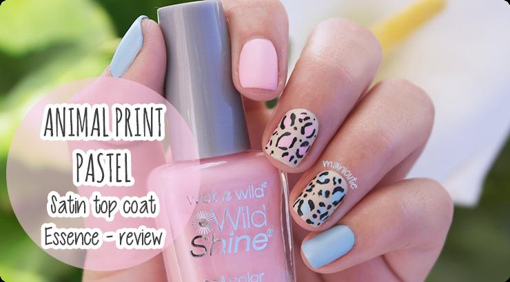 animal print nail art Essence satin matt review
