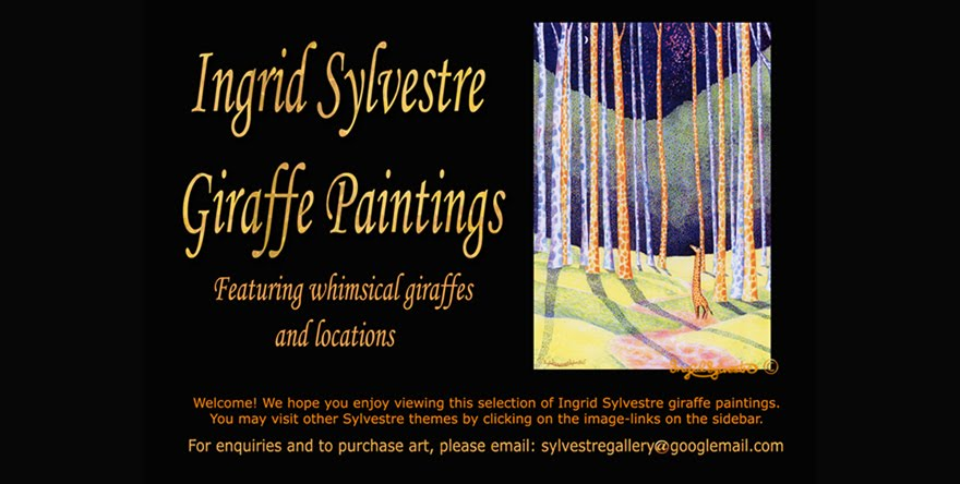 Ingrid Sylvestre Giraffe Paintings