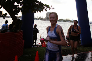 Swim Exit, Escape to Miami Triathlon