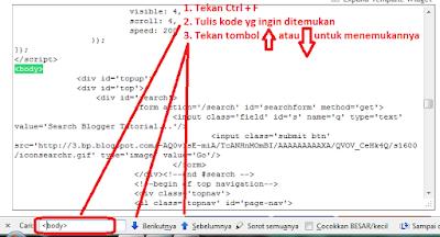 Cara Mudah + Cepat Mencari Kode Html di Blogger